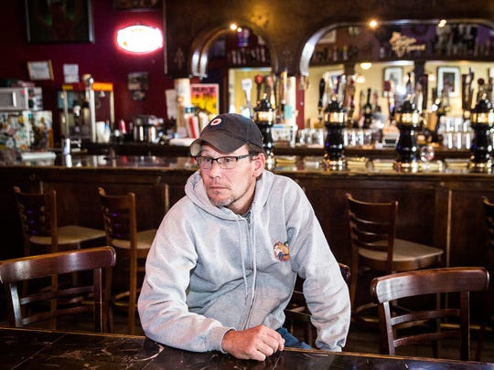 The Fickle Peach owner Chris Piche at his downtown bar Wednesday afternoon.
