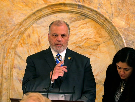 Senate President Stephen Sweeney conducting ceremonial