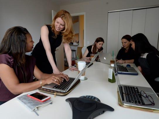 From left: Michele Benoit , Megan Driscoll, Fiona Farley,