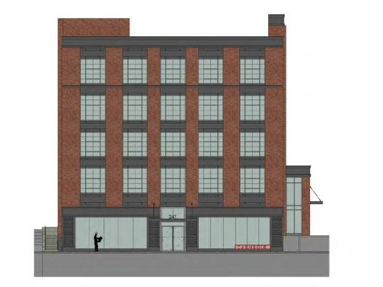 This view of Stern Properties' proposal for 247 N. Goodman St. shows the eastern elevation.