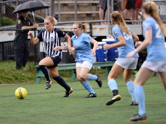 The women's Asheville City Soccer Club defeated Lake Norman 6-0 at Memorial Stadium in Asheville June 21, 2018.