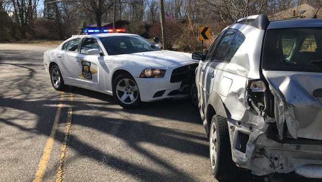 A police chase involving a three-car crash Friday, January 26, 2018, ended with one driver in custody, according to Indiana State Police.