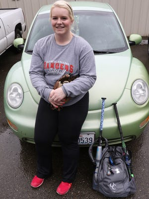 Amanda Lyyski travels daily from Spanaway to Bremerton to attend Olympic College and play softball for the Rangers. As a sophomore at OC, she has been doing the 85-mile  commute for nearly two years for her degree and pitch.