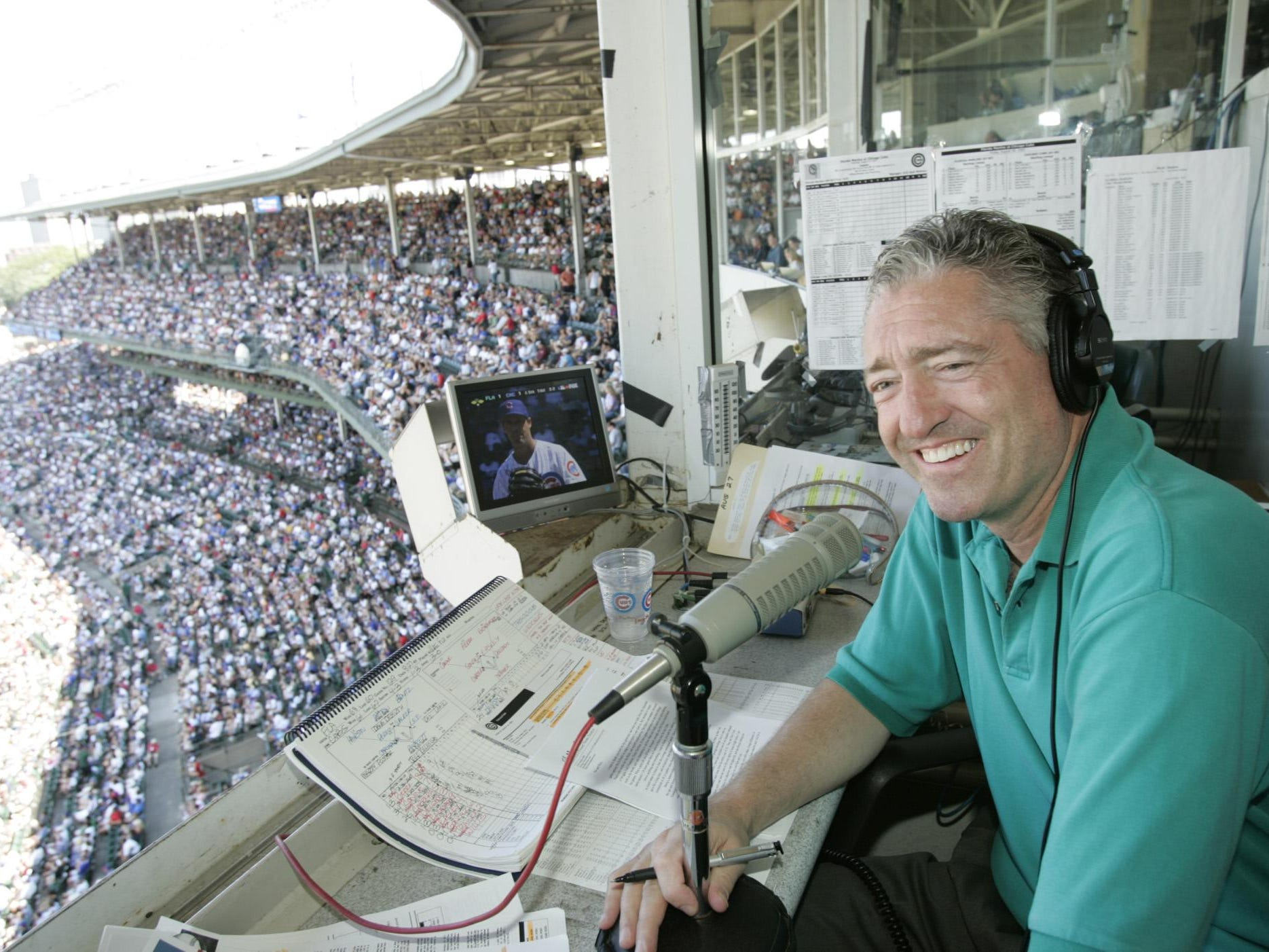 Pat Hughes, the radio voice of the Chicago Cubs, played in the 1971 Colt World Series at Loeb Stadium. The tournament starts Friday