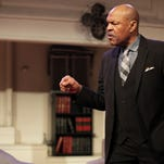 """Reggie Willis plays Henry, one of three attorneys hired to defend a white executive accused of raping a black woman in """"Race,"""" being produced by the New Edgecliff Theatre. The show runs April 9-25 at The Hoffner Lodge, 4120 Hamilton Ave., Northside."""