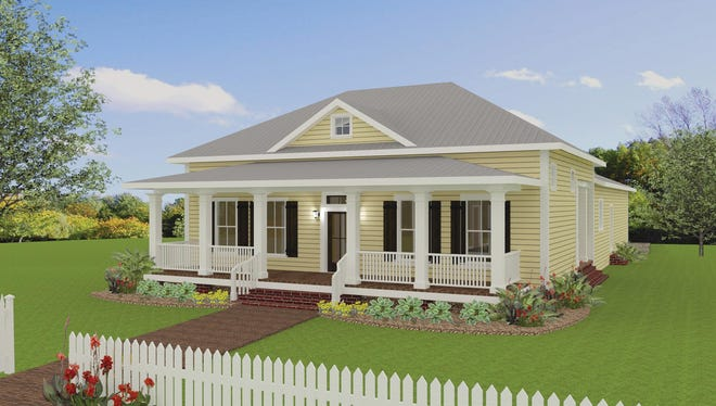 A deep porch stretches across the front of the home, giving you lots of room to sit and relax.