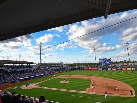 MLB: Spring Training-Los Angeles Dodgers at Texas Rangers