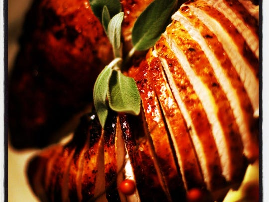 Roasted Turkey Breast with Sweet Pan Gravy