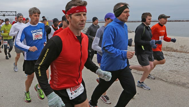 The South Shore Half Marathon - shown in 2013 - is planned for April 7 at the South Shore Park Pavilion. Journal Sentinel file photo