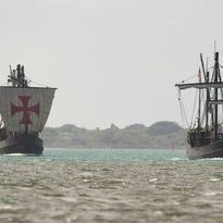 Nina and Pinta ships returning to Treasure Coast