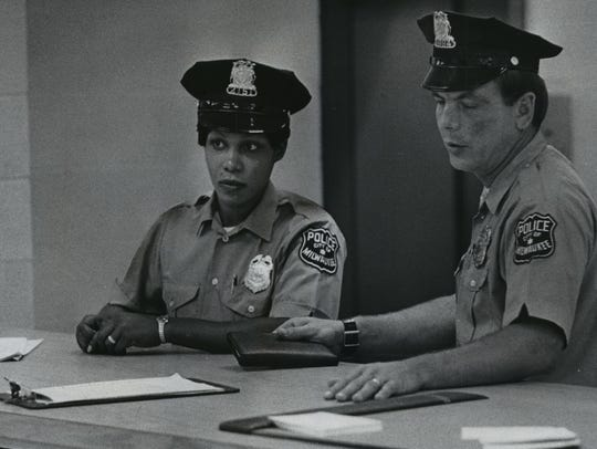 Ada Wright (left), the Milwaukee Police Department's