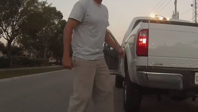 A Bonita Springs bike commuter reported a road rage incident this morning to the Collier sheriff's office after a driver stopped in traffic, emerged from his truck and threatened and cursed at the cyclist.