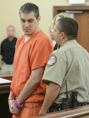 Zach Adams appears at the Decatur County Courthouse on Wednesday for arraignment on his revised charges in the Holly Bobo murder case. He pleaded not guilty.