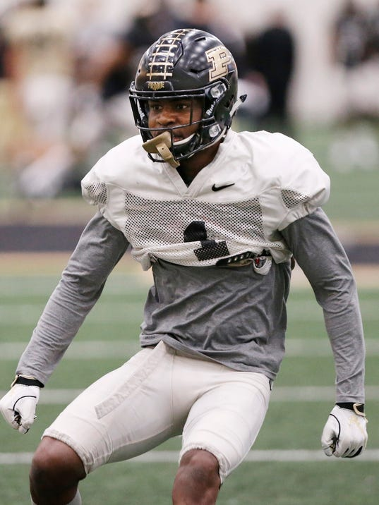 LAF Purdue spring football practice day 8