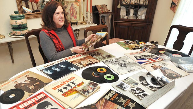 Nancy Haas Brown of Jackson, Miss., collected lots of albums and memorabilia during her time as vice president of the Beatles Fan Club of Jackson.