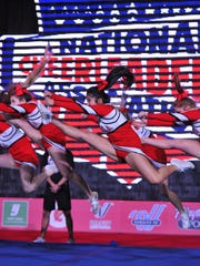 Tioga High cheerleaders won Best Use of Jumps at a national championship competition in Dallas, Texas, Jan. 23-24.