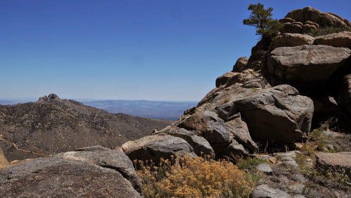 View from Aspen Peak along the Aspen Peak-Potato Patch