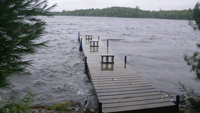 High water levels on Butternut Lake in Price County on Sept. 10, 2014.