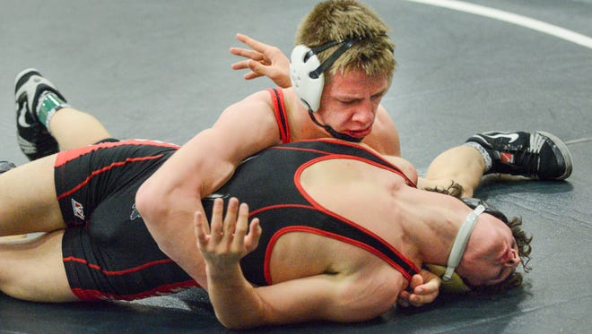 Against Bradford (12-5), ranked No. 7 in the area, it was junior Evan Sinda (13-3) who picked up the biggest victory. He knocked Bradford sophomore Marco Infusimo (24-1) from the undefeated ranks when Infusimo used up all of his injury time after Sinda's five-point throw at 5 minutes 24 seconds gave Sinda a 7-2 lead. Infusimo was then pulled from the 145-pound match.