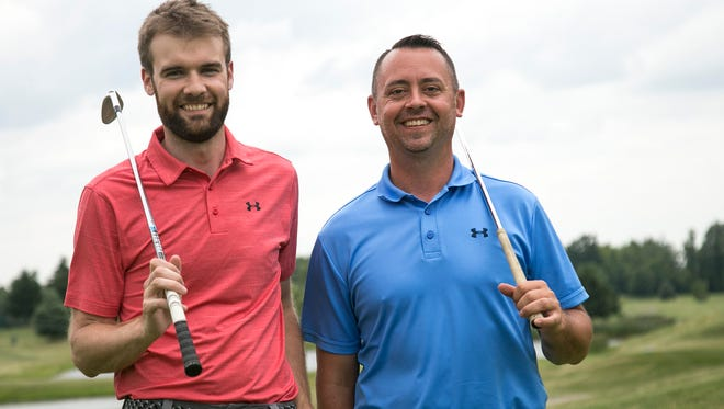 Brandon Ritchie and Tyson Deskins have teamed up and started a golf coaching business.