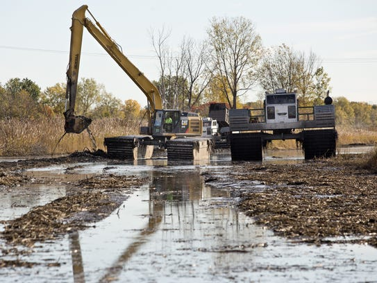 A more $3.5 million project dredged the Krispin Drain,