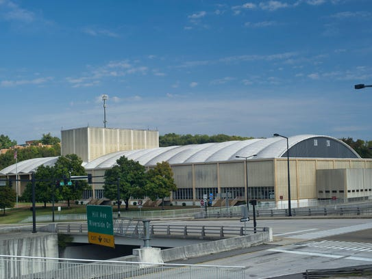 The Knoxville Civic Auditorium and Coliseum is pictured