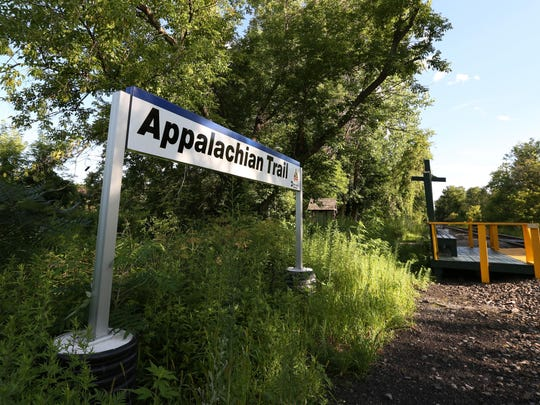 The Metro North train stop on the Appalachian Trail in Pawling