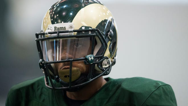 CSU's Jordon Vaden is moving from offense to defense this spring and said he finally felt like a cornerback for the first time during a practice Thursday in the team's indoor facility.