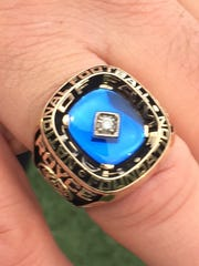 The ring Northmor and Ashland University alum Bill Royce received for being inducted into the College Football Hall of Fame.