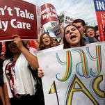 Jessica Ellis, right, is among many who cheered when the Supreme Court decision to uphold Obamacare was announced.