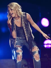 Carrie Underwood has hosted the CMAs with Brad Paisley in recent years.