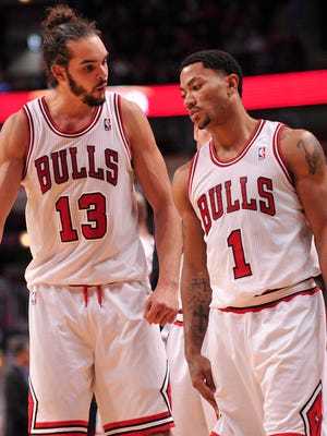 Center Joakim Noah will be one of the Bulls' leaders now that point guard Derrick Rose is out for the season.