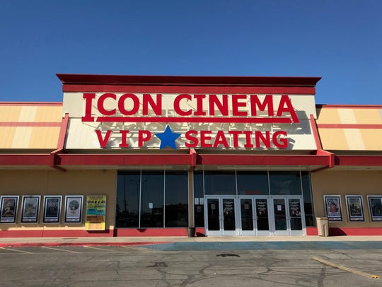 Exterior of Icon Cinema in San Angelo, Texas. Jan.