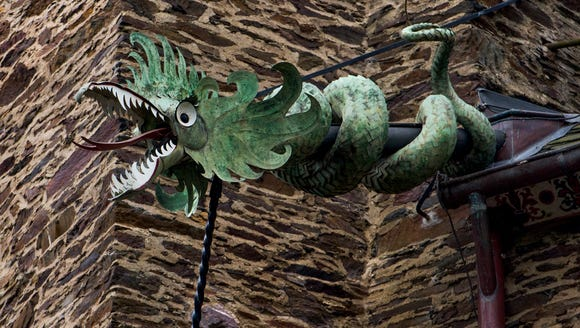 Dragons as drain pipes.