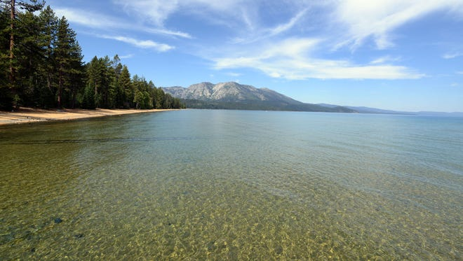 Lake Tahoe as seen from the pier at the Tallac Historical site on Aug. 19, 2014.