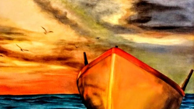 This is another of the pieces on display in the Robertson County Chamber of Commerce's gallery exhibit.