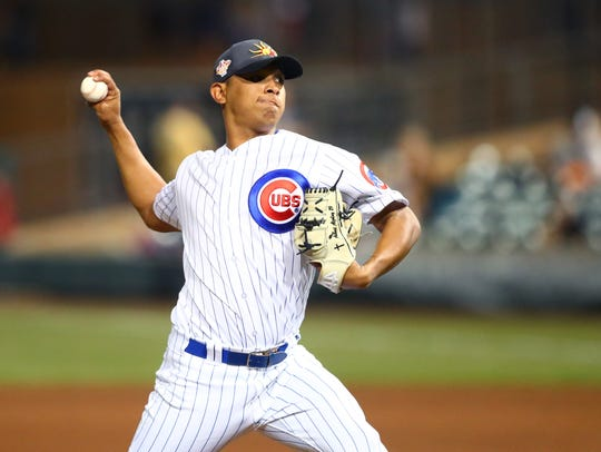 Adbert Alzolay is expected to begin the season with Iowa Cubs.