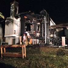 House fire in South Sacramento displaces family of three and their dog. All were able to get out safely.