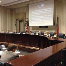 Winston-Salem council members at Tuesday night meeting