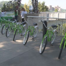 Bikes for rent in downtown Knoxville