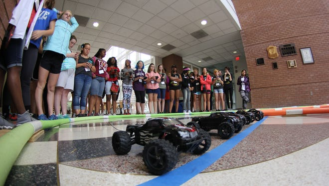 """Middle school students learn about opportunities in the """"STEM"""" fields of science, technology, engineering and math at a Clemson University summer program."""