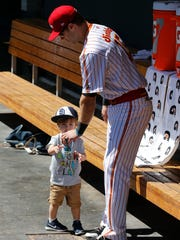 Chihuahuas shortstop Dusty Coleman takes h is son into
