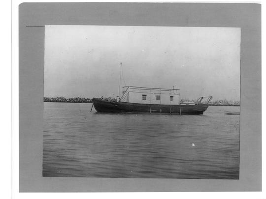 This is one of the boats used by staff of the quarantine station to inspect and clean (if needed) ships as they came in.