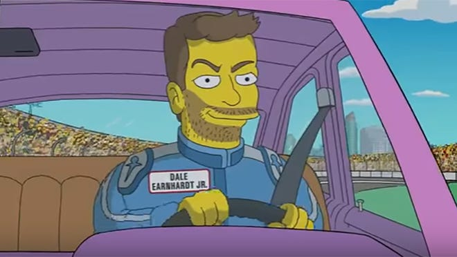 For a Daytona 500 ad, Dale Earnhardt Jr. received his own 'Simpsons' character behind the wheel.