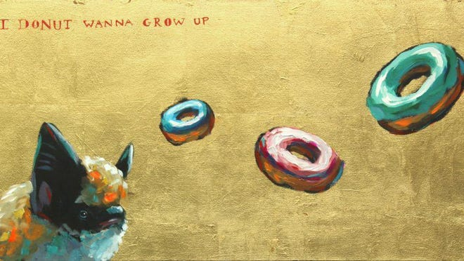 """This photo shows Athens painter Will Eskridge's """"I Donut Wanna Grow Up"""" from his """"Confectionary Outcasts"""" series. Eskridge is one of the artists listed in the Athens Creative Directory."""