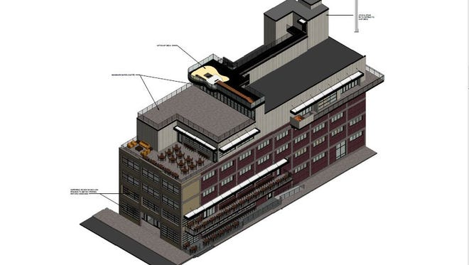Owners of 105 Broadway want to add a guitar patio for restaurant/bar and live music venue Nashville Underground.