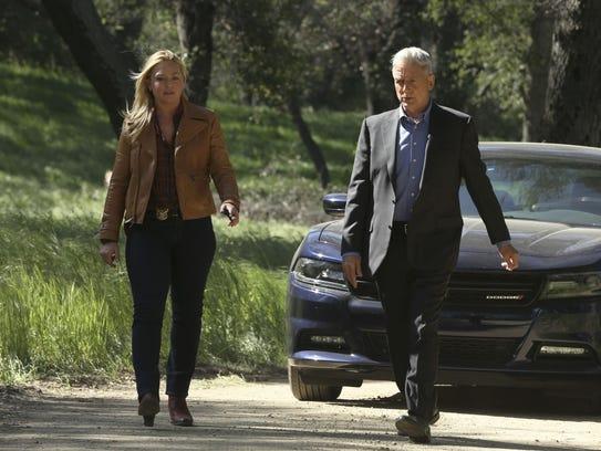 Elisabeth Röhm and Mark Harmon in CBS's 'NCIS.'