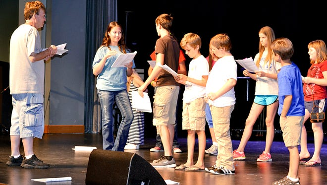 Youngsters have been rehearsing this week for 'Revenge of Captain Hook,' being presented Saturday and Sunday at The Sheid.
