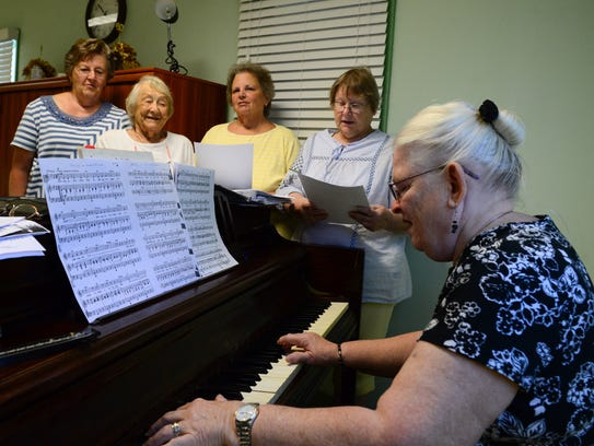 Cape Henlopen Senior Center's chorous practices on