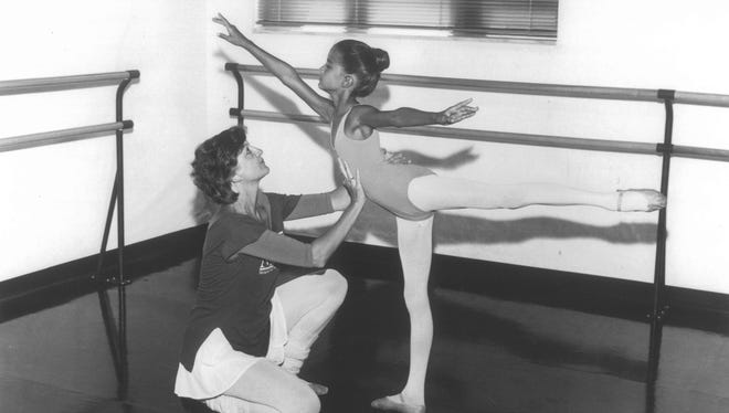 ADT Celebrates Its 30-year history with a look back at Artistic Director Kitty Seale teaching a young Wendy White Sasser, who later moved up to a professional career with the Alvin Ailey American Dance Theater in New York.
